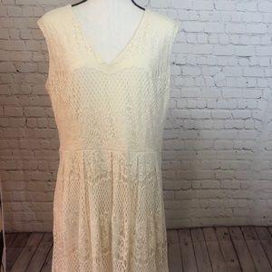 Liz Claiborne sleeveless lace dress